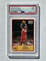 2003-04 Lebron James Bazooka Road Red Jersey Rookie Card PSA 9 MINT RC