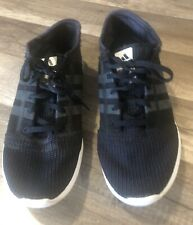 Adidas Element Refine Tricot Shoes Size 8.5 Black Pre Owned