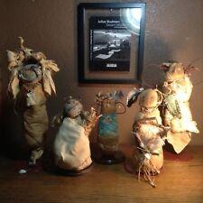Rare Antique Primitive Folk Indian Art Rag Dolls American