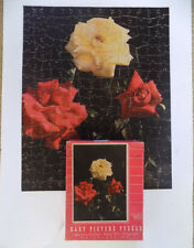 Vintage 1943 Hart Picture Puzzle Interlocking Roses Leo Hart Co.