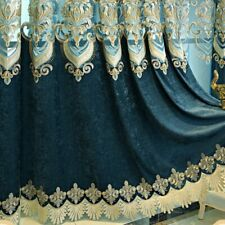 Chenille Embroidery Curtain Fabric DIY Semi-finished Voile Tulle Window Drape