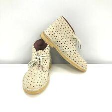 Clarks Originals Shoes UK 5.5 EU 39 Boots Lace Up Cream Black Spotted 291727