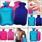 Azmed Hot Water Bottle Twin Pack Pink & Blue New