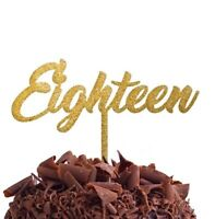 Eighteen 18 Eighteenth Cake Topper Birthday Party Decoration Food Safe Small