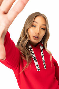 HYPE RED DRAWCORD WOMEN'S PULLOVER HOODIE