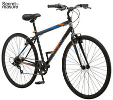 Mongoose Fitness Bike Men 700C Black Hybrid Commuter Sport City Bicycle New