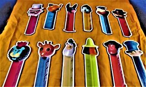 PEZ - MISCELLANEOUS - ***  (1997) MAGNETS ***  -  SET OF 12 -  LOOSE