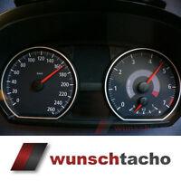 """Tachoscheibe für Tacho BMW 1er E81 E82 E87 E88 """"Vision-Black"""" 260 Km/h"""