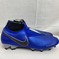 Nike Phantom VSN Elite DF FG Racer Blues Soccer Cleat AO3262 400 Men's Size 11