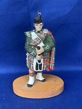 Vintage Scottish Scotland HIGHLAND PIPER Royal Stewart Tartan Plaid Man ❤️sj13m
