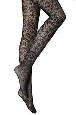 NEW WOMENS LADIES BLACK FLORAL PATTERN TIGHTS  PLUS SIZE XL 18-20 R17