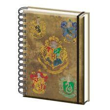Genuine Harry Potter Hogwarts House Crests A5 Hardback Journal Notebook Note Pad