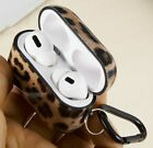 Apple AirPods 2 1 Pro Earphones Cover Hard Rubber Protector Case Leopard Cheetah