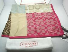 COACH Spring Patch Multi Color Silk Neck Scarf NEW WITH TAGS