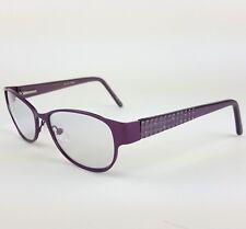 DiCaprio Capri Model DC 101 Eyeglasses Full Rim 52/17/135 Violet Metal Frames