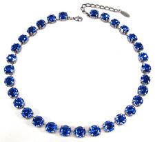SoHo® Collier Halskette geschliffene Kristalle sapphire blau große Strasssteine