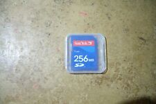 Qty=1 SD CARD SANDISK 256MB With Cases