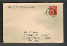 1951 Lerwick England Cover to Stockport