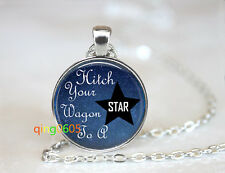 Cosmic Star photo glass dome Tibet silver Chain Pendant Necklace wholesale