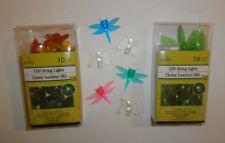 Fairy Garden 20 LED Lights Flowers Leafs Butterfly Dragonfly 2-AA Battery Power