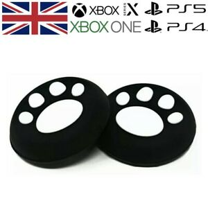 White Paw Print Thumb Grips Analog Stick Cap Covers PS5 XBOX Series X Controller