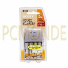 Sony Power Battery Charger with 4 AA Ni-MH Rechargeable  Batteries