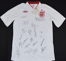 2012-2013 ENGLAND UMBRO HOME FOOTBALL SHIRT (SIZE M) - SIGNED