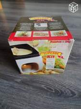 BRAND NEVER IN BOX Authentic Le Superbe fondue set for 4 persons