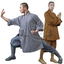 Shaolin Monk Robe Kung fu Uniform Buddhist Meditation Tai chi Suit Thick Cotton
