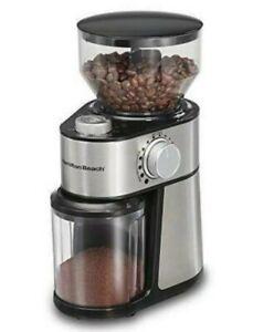 Hamilton Beach Coffee Grinder 14 Cup Removable Top Burr , Grey, 80382