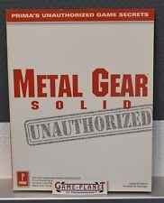 Metal Gear Solid Prima's Lösungsbuch rar limitiert unauthorized Einkaufgp USA