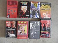 VINTAGE PUNK ROCK VHS LOT- RAMONES DOA THE DICKIES GWAR AND MORE