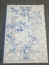 More details for tottenham hotspur v wimbledon 25/10/96 **signed**  reserves teamsheet  spurs
