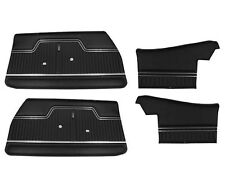1970 1971 1972 Chevelle Front & Rear Convertible Interior Door Panels Black