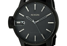 PRE-OWNED $350 Nixon Men's 'Chronicle SS' Stainless-Steel-Plated Watch A1981028