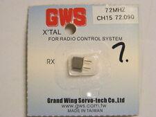 GWS #GWX1/R72090 72MHZ FM RECEIVER Crystal  72.090MHz - Ch15 AIR-SMALL SIZE RX