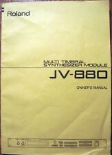 Roland JV-880 Synthesizer Midi Module Original Owner's Operation Manual Book
