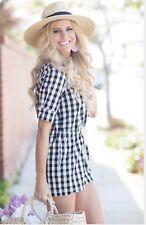 Solid And Striped The Romper Black Gingham Sz S $268