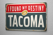 Tin Sign Retro Art Metropole Tacoma USA