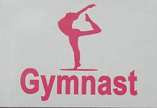 Sports,Gymnast,Gymnastics,Olympics,White,Pink,or Soft Pink Oracal Vinyl Decal