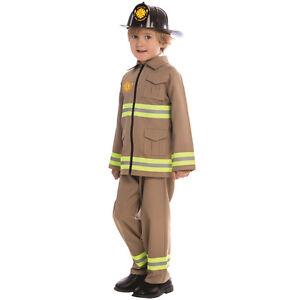 Kids Kj Firefighter Costume By Dress up America