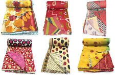 Vintage Reversible Kantha Quilt Handmade Bedspread Free shipping Lot Of 10 PC