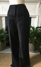 Alexander Mcqueen Black Wool High Waisted Trousers Size 12