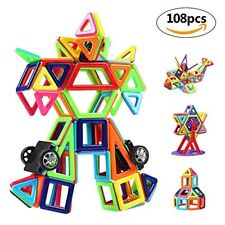 Innoo Tech Magnetic Building Blocks  108 Pcs Magnet Blocks Set  Kid Magnetic T