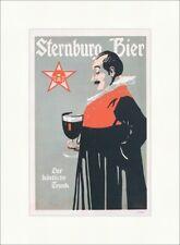 Sternburg Bier Bergmüller 1900 Brauerei Leipzig Kunstdruck Plakatwelt 192