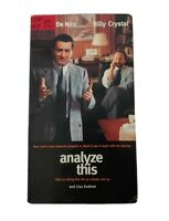 Analyze This (VHS, 1999) Billy Crystal, Robert De Niro