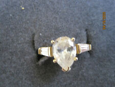 - Size 5.5 - 2.7g New listing 10K Pear Shaped Cz? Ring