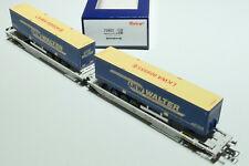ROCO HO ÖBB  AAE 6achsiger Doppeltaschenwagen LKW Walter grau 75903 NEU OVP