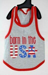 "Bailey & Bella Companion Couture - ""Born in the USA""  Tank/Shirt Pet/Dog (XS)"