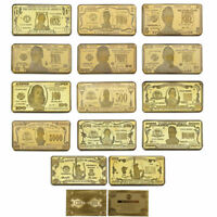 WR Complete Full Set US Dollar Bill Novelty Banknote Money GOLD Bullion Art Bar